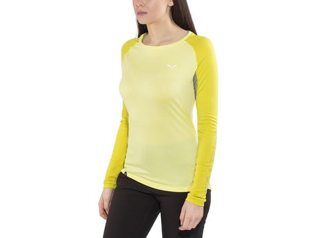 Salewa Pedroc Delta Dry - T-shirt manches longues Femme - jaune